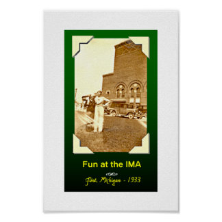 IMA builidng in the 30s, Flint, Michigan Poster