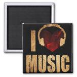 """Imã """"I Love Music"""" Imán Cuadrado"""