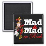 """Imã """"Mad & Mad in Rock"""" Imán Cuadrado"""
