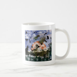 Imabari castle and flower and bird coffee mug