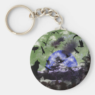 Imabari castle and flower and bird keychain