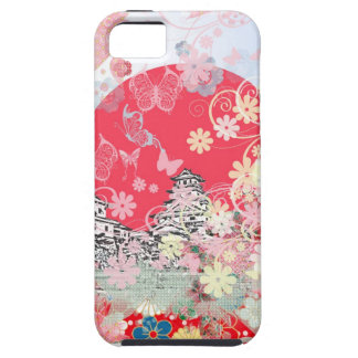 Imabari castle and flower and butterfly iPhone SE/5/5s case