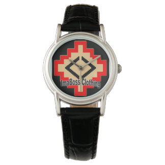 ImaBossClothing Brand Classic Black Leather Wristwatches