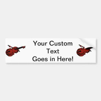 Imag rojo oscuro negro atado del arco de violín de pegatina para auto