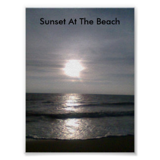 image001 (6), Sunset At The Beach Poster