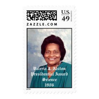 image001, Valeria J. AlstonPresidential AwardSc... Postage Stamp