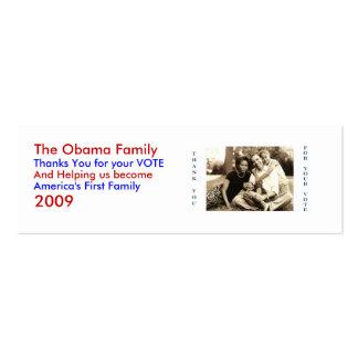 image0-6, la familia de Obama, le agradece por su… Tarjetas De Visita Mini