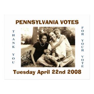 image0-6, PENNSYLVANIA VOTES, Tuesday April 22n... Postcard