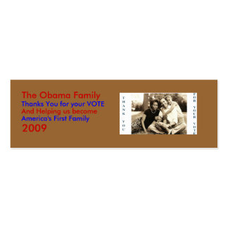 image0-6, The Obama Family, Thanks... - Customized Mini Business Card