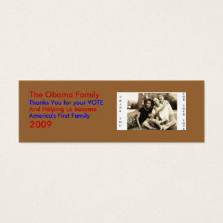 image0-6, The Obama Family, Thanks... - Customized Mini Business Card