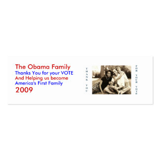 image0-6, The Obama Family, Thanks You for your... Mini Business Card