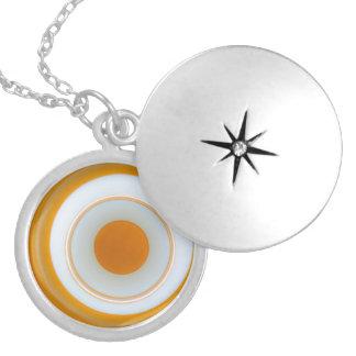 Image 3D like eye Sterling Silver Round Locket