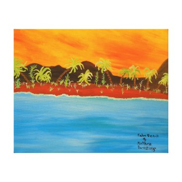 Beach Themed Image 600-dpi 20'x16'Picture Calm Beach Canvas Print