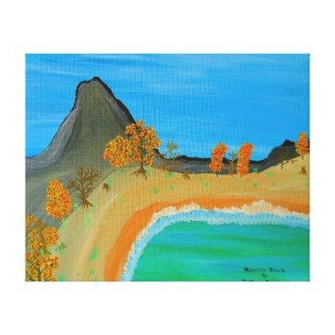 Beach Themed Image 600-dpi 20'x16'Picture Mountain Beach Canvas Print