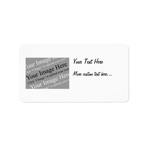 Image and Text Custom Address Labels