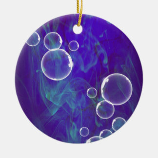 image Bubbles OF Blue Ceramic Ornament