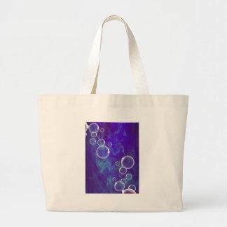 image Bubbles OF Blue Large Tote Bag