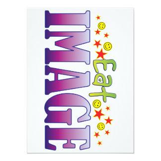 Image Eat 5.5x7.5 Paper Invitation Card