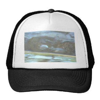 Image effects onto streaming creek pic trucker hat