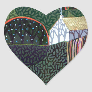 image from an original painting by Richard Friend Heart Sticker