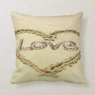 Image in the Sand for Polyester-Cushion Throw Pillow