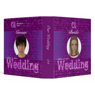 Image Insert Wedding Purple Mosaic Binder binder