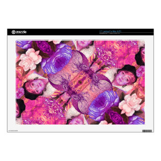 "image.jpegink Purple Vintage Woman Abstract 17"" Laptop Skins"