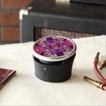 image.jpegink Purple Vintage Woman Abstract Bluetooth Speaker