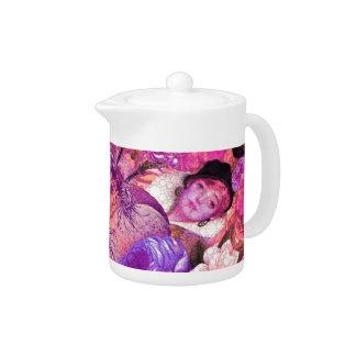 image.jpegink Purple Vintage Woman Abstract Teapot