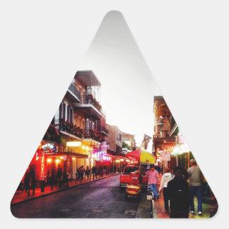 image.jpg New Orleans night life Triangle Sticker
