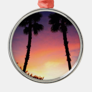 image.jpg palm trees sunset pacific coast CA Christmas Ornaments