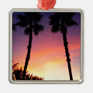 image.jpg palm trees sunset pacific coast CA Ornament