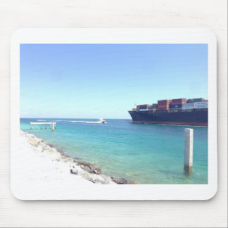 image.jpg south beach Miami Florida ocean and ship Mouse Pad