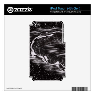 image lack and White Abstract Decal For iPod Touch 4G