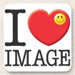 Image Love Beverage Coasters