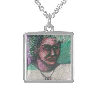 Image LXVII by Saz Denny Square Pendant Necklace