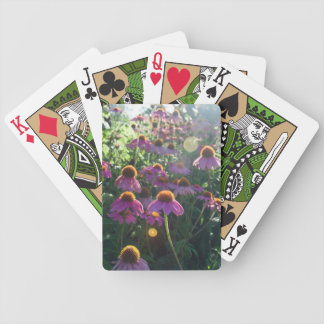Image of a bunch of purple flowers bicycle playing cards