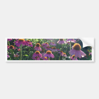 Image of a bunch of purple flowers bumper sticker