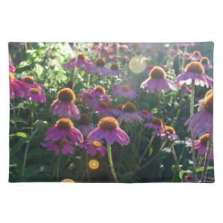 Image of a bunch of purple flowers cloth placemat