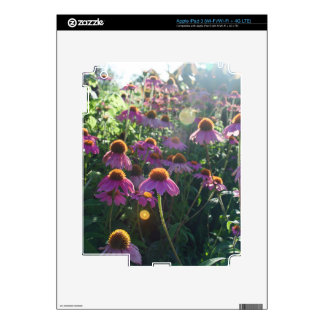 Image of a bunch of purple flowers decal for iPad 3