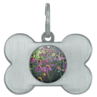 Image of a bunch of purple flowers pet name tags