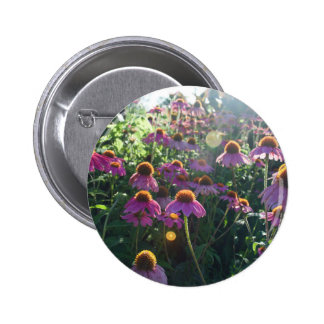 Image of a bunch of purple flowers pinback button