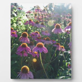 Image of a bunch of purple flowers plaque