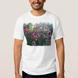 Image of a bunch of purple flowers t-shirts