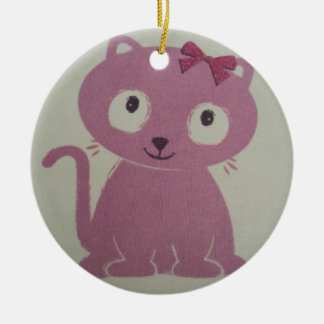 image of a cat ceramic ornament