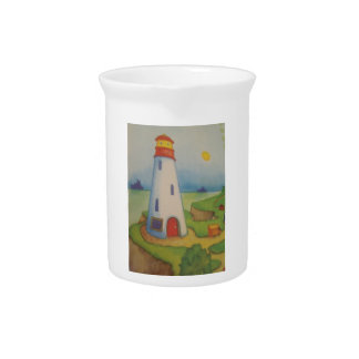 image of a lighthouse beverage pitcher