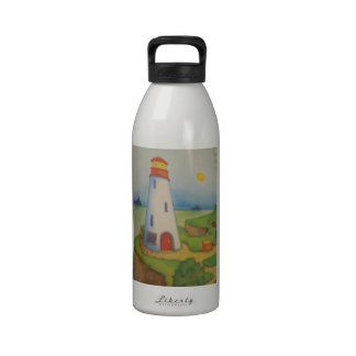 image of a lighthouse reusable water bottle