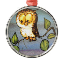 image of a owl metal ornament