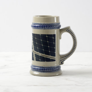 Image of a solar power panel funny beer stein