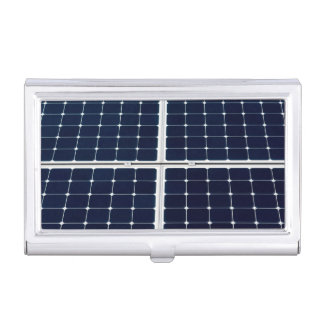 Image of a solar power panel funny business card holder
